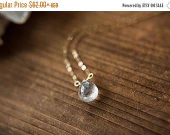 Summer Solstice Sale Tourmalinated Quartz Necklace // Tourmaline Quartz // Pendulum Jewelry // Crystal Necklace // Handmade Jewelry // Quart