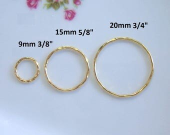 2 pcs, 20mm,Beautiful Textured Rings, Big jump rings, Terrafinds Popular item for Macrame bracelet - CC-0043