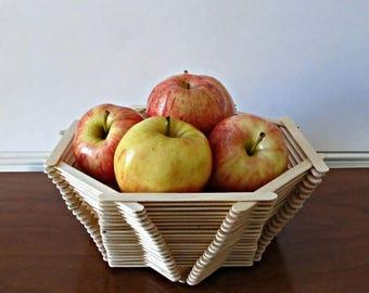 ON SALE Popsicle Stick Bowl - Fruit Basket, Catch All Bowl, Serving Bowl - Modern Rustic Home Decor