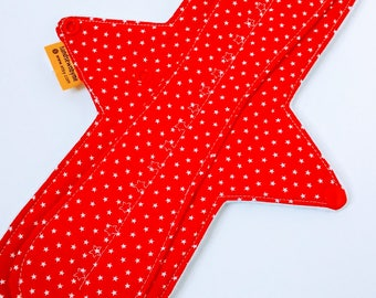 12 Inch Cloth Pad,Maxipad,Cloth Panty Liner,Cloth Backup,Cloth Pad Starter,Moderate Flow,Exposed Core,Cotton Top W/Windpro Jersey Backing
