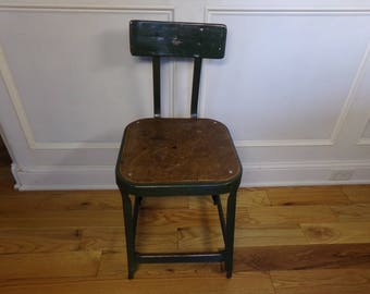 Vintage  1950's  Metal Stool