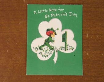 Vintage 1960's  St. Patrick's Day Card