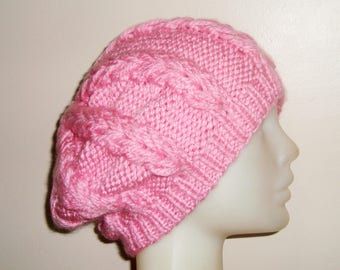 Pink Womens Hat, Pink Hat, Pink Hat Women, Pink Knit Hat, Pink winter Hat, Pink Winter Hat for Woman Gift - pink gifts