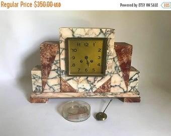dezember verkauf antik 1920 art deco marmor mantel uhr in teilen braucht reparatur - Mantel Der Ideen Mit Uhr Verziert