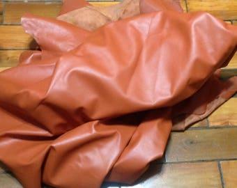 BR268.  Orange Leather Cowhide