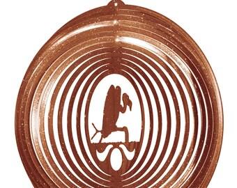 Buzzard Vulture Copper Swirly Metal Wind Spinner