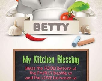 Kitchen Blessing Sign Digital Personalized PDF Download Posters