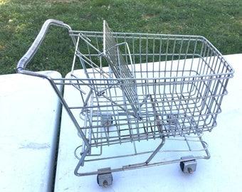 Small Vintage Shopping Cart Basket