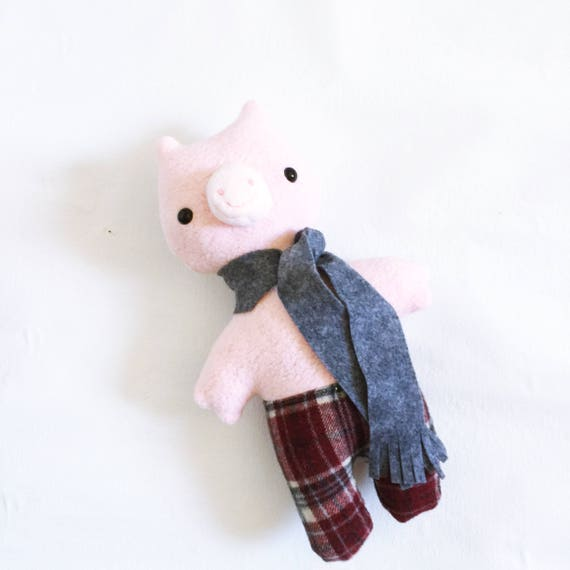 Animalpants Pig in Pink Sherpa - READY TO SHIP