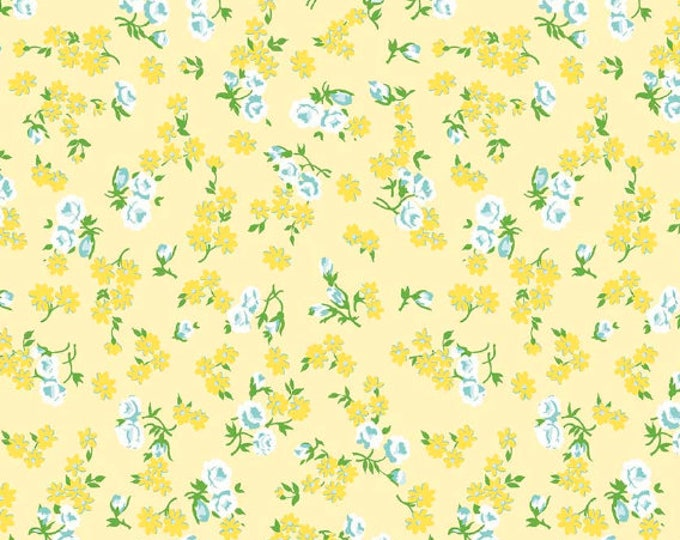 Dainty Darling Fabric by Lindsay Wilkes from The Cottage Mama for Riley Blake Designs and Penny Rose Fabrics - Yellow Floral