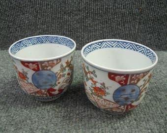 Japanese Antique Imari Cups Pair