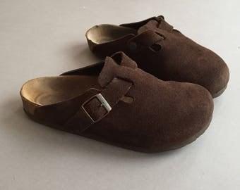 vintage brown suede Mule Birkenstocks size 38