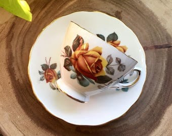 Vintage Royal Vale Tea Cup & Saucer / Vintage China / Tea Party