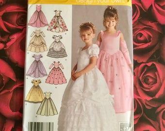 Simplicity Girls Formal Dress Sewing Pattern