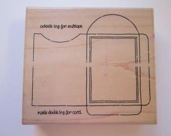 rubber stamp - ENVELOPE STAMP - JRL Design stamp - used rubber stamp