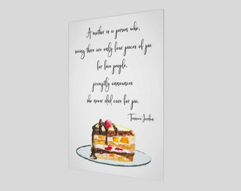A mother is a person who, Poster, Mother's Day Gift, Mother's Day, Mom, Mother, Mother Saying, Gift for her, Pie Poster, Dessert Poster