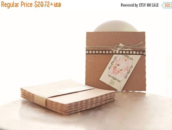 ON SALE Recycled Kraft CD Sleeves- Set of 40  | wedding cd sleeve, kraft envelope, cd cover, wedding songs favor, photography packaging