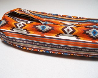 NEW XL Yoga Bag - Exercise mat bag - orange rust and red with Large pocket