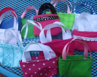 Doll Party Favors, 12 assorted purses for 18 inch dolls