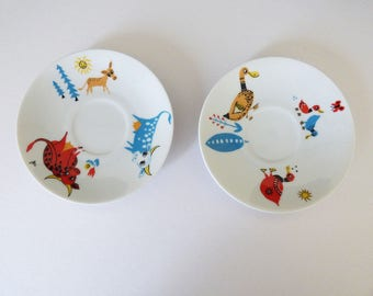 Seltmann Weiden Bavaria childrens design 2 x Saucers