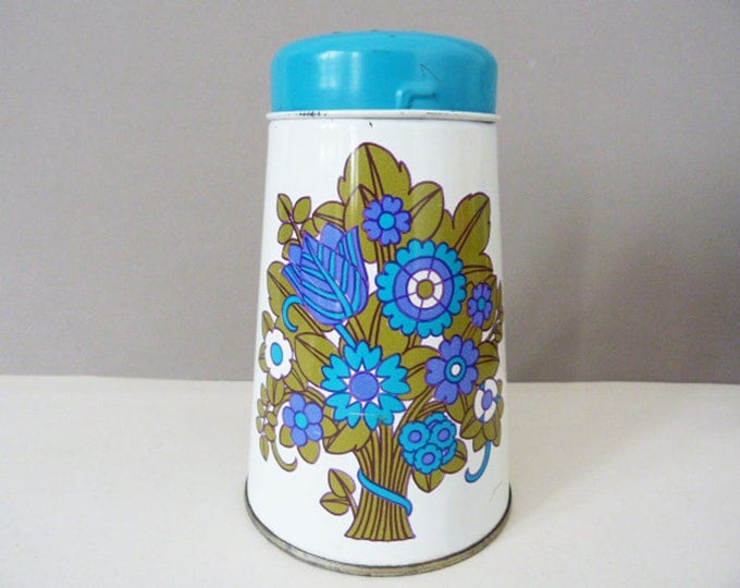 1970's Vintage tin flour shaker by Regency England
