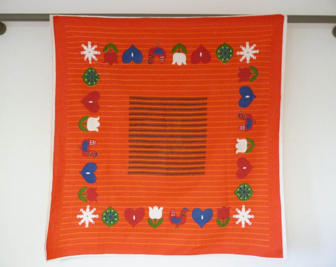 Vintage Scandinavian table cloth