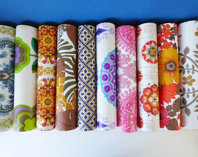 Wallpaper sample pack A3 Vintage Retro 10 sheets