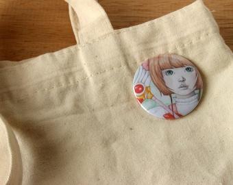 Cardcaptor Sakura. Pin. Button. Pinback Button. Badge. Reading.