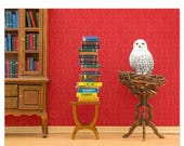 FALL SALE Harry Potter inspired Hedwig owl animal art print: Spellbound