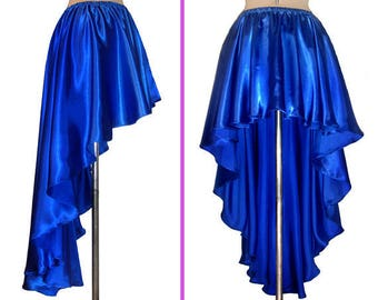 Ameynra Design High-low skirt. Satin. All colors from S to 3X