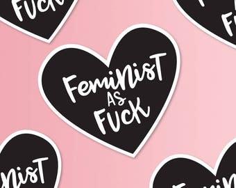 Feminist AF, Feminist Stickers, Future is Female, Laptop Sticker, Bullet Journal,  Macbook Decal, Best Friend Gift, Girl Power, Galentines