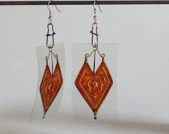 Earrings - tribal gold