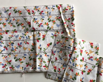 """Heidi Grace Birds on Treebranches Fabric 17"""" x WOF and scraps"""