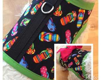 Flip Flops Small Dog Harness Made in USA, dog harness, dog harnesses