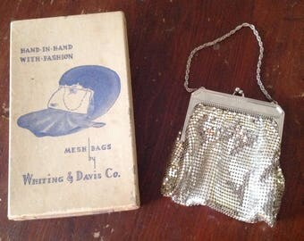 Whiting & Davis Co. Silver Mesh Bag (4900 R Silver)