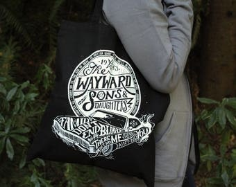 Supernatural Bag | Wayward Sons and Daughters Tote Bag | Sam and Dean Winchester Bag | Hand Screen Printed