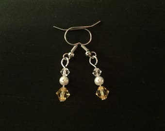 November Birthstone Earrings made with Swarovski Crystal