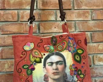 Frida Kahlo Embroidered Bag