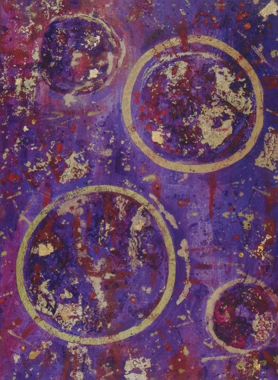 Purple Abstract Print