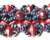 Venetian lace stitch beadweaving beaded bracelet instructions tutorial: Instant Downloadable Pattern PDF File