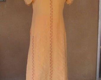 Pale Orange with deep red embroidery Salwar Kameez