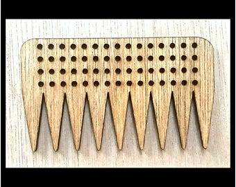 """Stitchable """"Freestyle"""" Wooden Weaving Comb Beater DIY *Walnut/ Cherry/ Red Chestnut/ Jacobean Finish*"""