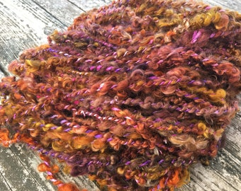 Mohair and silk 2 ply hand spun super bulky yarn - hand painted luscious softness!