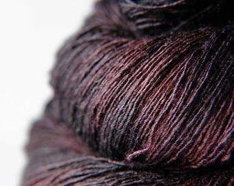 Chocolate cosmos ceasing to be - Tussah Silk Lace Yarn - LSOH
