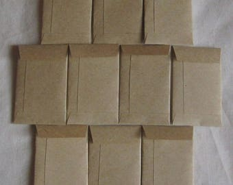 "200 Tiny Brown Coin Envelopes - Tiny Coin Seed Envelopes - Tiny Confetti Envelopes - Tiny Wedding Coin Envelopes - 2"" x 1 1/4"""