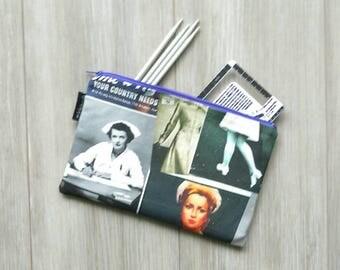 Large Retro Nurses Bag - Retro Pouch - Make Up Bag - Gadget Zipper Bag