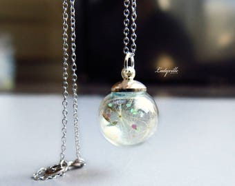 Sterling Silver Necklace - Glittering Dandelions