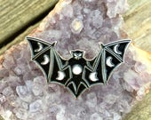 Enamel Moon Phase Bat Pin