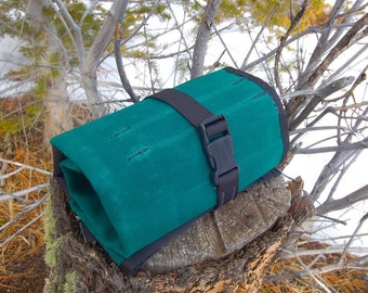 Mega Tool Roll - Green with Black Trim