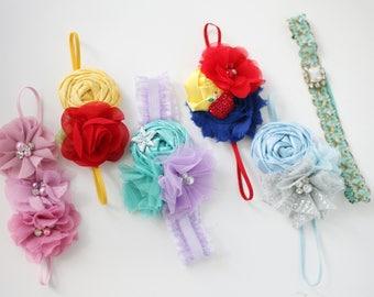 Princess Power - princess inspired headband baby newborn bow